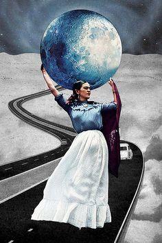 Obligatory Frida | by Eugenia Loli - Frida Kahlo - collage art