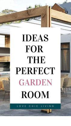 Outdoor Garden Rooms, Outdoor Living, Contemporary Garden Rooms, Summer Plants, Outdoor Crafts, Outdoor Entertaining, House Design, Patio, Outdoor Furniture