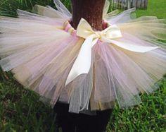 Items similar to Cream Baby tutu, wedding flower girl tutu { Classic cream } off white vinatge shabby Tutu satin bow holiday spring photography prop on Etsy