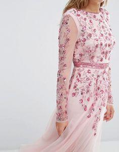 Maya | Maya Embellished Fit and Flare Midi Dress