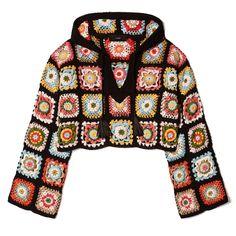 Vestiti alluncinetto e crochet: ecco come indossarli questa primavera estate Crochet Bolero, Crochet Jacket, Crochet Cardigan, Crochet Granny, Knit Crochet, Crochet Stitches, Knitting Designs, Crochet Designs, Crochet Patterns