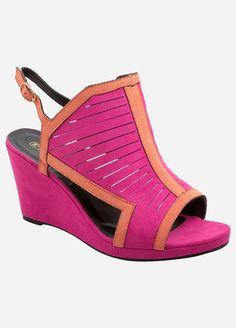 8d7632116c679 Multi Slit Cut Out Wedge - Wide Width. Sensible Shoes ...