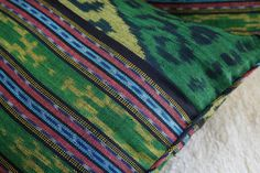 Green Hand Woven  Ikat Pillows, 30 Inch Floor Pillows Or 16 Inch Throw Pillows  - product images  of