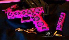 Leopard pink gun