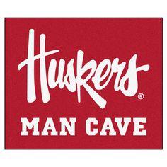 Nebraska Huskers Man Cave 5' X 6' Tailgater Area Rug Floor Mat