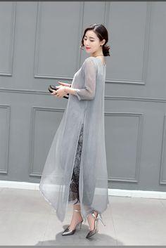 Women Cotton Linen Long Dresses