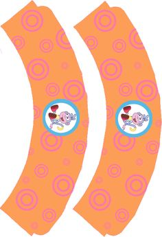 Dora The Explorer ~ Boots, #Dora #Explorer #cupcake_wrappers #Boots. Download & print on A4 paper or board. Cut out top border with shape scissors to give a different effect on each cupcake. Trim off the sides and bottom to suit your cupcake size