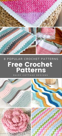 You're not going to want to miss these free crochet patterns! These easy free frochet patterns are fun to make and are the perfect addition to your collection of crochet patterns for beginners. #freecrochetpattern #easycrochetpattern #beginnercrochet Crochet Patterns For Beginners, Crochet Blanket Patterns, Crochet Ideas, Free Crochet, Crochet Hats, Popular Crochet, Cottage Design, Blankets, Free Pattern