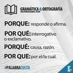 Gramática y Ortografía Spanish Grammar, Spanish Vocabulary, Spanish Words, Spanish Language Learning, Spanish Lessons, Teaching Spanish, Spanish Class, Work Motivation, Writers Write