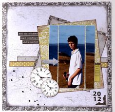 This is my gorgeous son Patrick who hates to have his photo taken. 12x12 Scrapbook, Scrapbook Templates, Scrapbook Sketches, Scrapbooking Layouts, Graduation Scrapbook, General Crafts, Rose Cottage, Clear Stamps, Paper Crafts