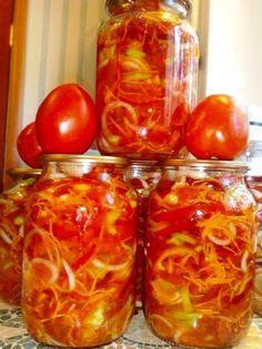 Советую взять на заметку помидоры по — корейски, просто пальчики оближешь. Продукты: -Соль – 40 г -Перец горошком – 20 горошин -Масло растительное – 0,5 л -Морковь – 500 г -Лук – 500 г -Перец сладкий – 1,5 кг -Помидоры – 1,5 кг -Сахар – 80 г -Уксус 9% – 250 мл Приготовление: Все овощи …