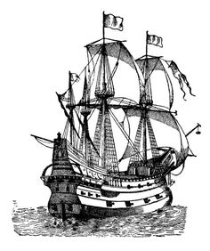 Sailship Galleon - not unlike me own ship 'Mad Gorgon' that brought back me last horde .... #BuriedTreasure