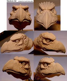 Skeksis head sculpture by Skulpturen