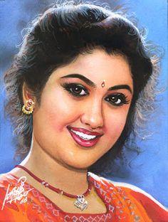 Oviyar Maruthi Ravivarma Paintings, Indian Art Paintings, Painting Of Girl, Hair Painting, Beautiful Girl Indian, Beautiful Long Hair, Indian Women Painting, Indian Photoshoot, India Art