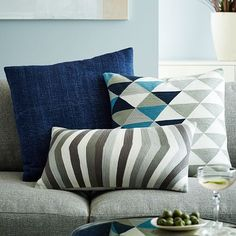 Silk Hand-Loomed Pillow Cover - Nightshade #westelm
