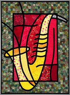 stain glass quilts by Julie Hirota