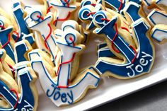 anchor shaped cookies - Google Search