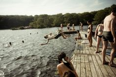 """Jumping into a lake, in """"Of Recklessness and Water"""" by Elizabeth Weinberg: http://www.dazeddigital.com/photography/article/14511/1/elizabeth-weinberg-of-recklessness-and-water"""