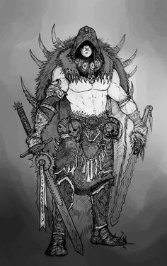 Barbarian Concept 2 by AlexBoca on deviantART