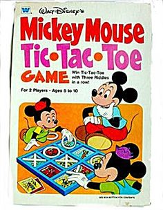 1977 Mickey Mouse Tic-Tac-Toe Game (Games) at Mooncat Antiques Vintage Games, Vintage Toys, Disney Games, Tic Tac Toe Game, Hobby Toys, Game Quotes, Family Game Night, Antique Toys, Disney Mickey Mouse