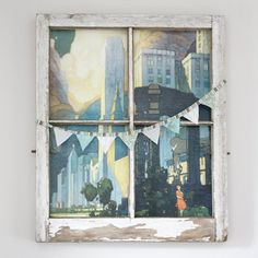 Use an old window to frame a poster or photo! Charming!