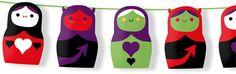 Halloween dolls - FREE printables http://printablepaperproducts.com/printable-crafts/free-halloween-garland#