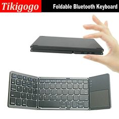 Portable Wireless Bluetooth Keyboard touchpad remote control foldable bluetooth keyboard for android phone tablet windows pc #Affiliate