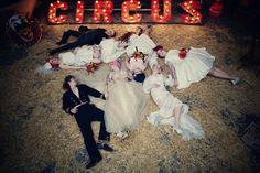 circus wedding shoot