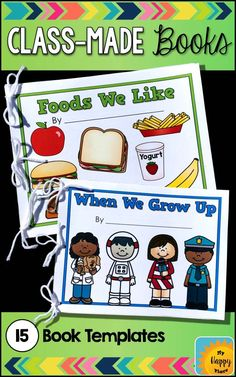 Black and neon . Preschool and kindergarten kids love making and reading these class books! They love seeing their names in print. This is perfect practice for the beginning of the year and on! Preschool Books, Kindergarten Writing, Kindergarten Literacy, Preschool Library Center, Preschool Classroom Centers, Preschool Reading Corner, Learning Centers, Preschool Ideas, Writing
