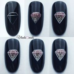 Get nail art will teach you how to create awesome designs. Manicure Nail Designs, Nail Manicure, Diy Nails, Nail Art Designs, Nail Art Hacks, Easy Nail Art, Stylish Nails, Trendy Nails, Fancy Nails