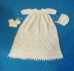 Ravelry: Rose Trellis Christening Gown pattern by Margaret Jones