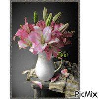 Flower in the vase Random Gif, Vase, Stickers, Flowers, Vases, Royal Icing Flowers, Flower, Florals, Floral