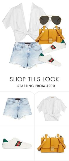 """Untitled #4144"" by lily-tubman ❤ liked on Polyvore featuring Alexander Wang, Michael Kors, Gucci, Miu Miu and Yves Saint Laurent"