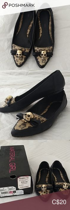 Material Girl flat Size Worn a few times. Bought them from The Bay.