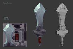 low poly game in blender 3d Fantasy, Fantasy Weapons, Prop Design, Game Design, Blender 3d, Modelos Low Poly, Maya Modeling, Polygon Modeling, Character Art