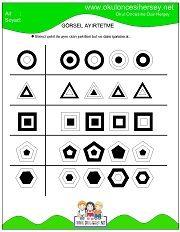 Dikkat Geliştirme Çalışmaları Printable Mazes, Free Printables, Visual Perception Activities, Adhd Activities, Math Patterns, Visual Memory, Brain Gym, Coding For Kids, Teaching Math