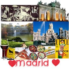 Favorite places: Madrid, created by simarik on Polyvore
