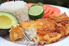 A Colombian recipe, a dish called Pescado Aborrajado.  Simply fried battered fish dish.