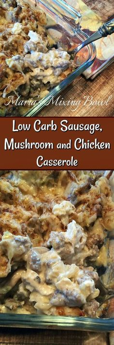 Low Carb Sausage, Mushroom and Chicken Casserole is So delicious and full of flavor! Make this one and I bet you will make it over and over again.