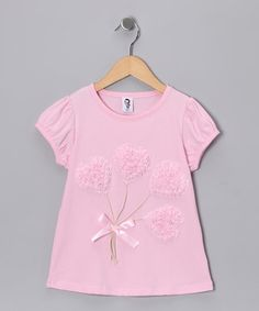 Take a look at this Light Pink Heart Bouquet Tee - Toddler & Girls by Girly Things & Just Couture on #zulily today!