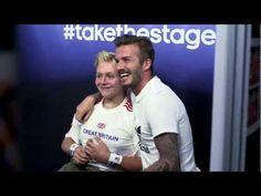 adidas | David Beckham pops up at the #takethestage photobooth