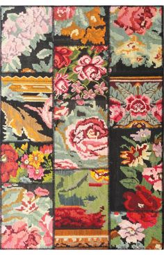 Turkish patchwork lilim rug - romantic!
