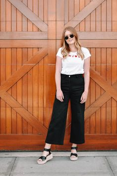 cd051b62c6e 7 delightful black culottes outfit images
