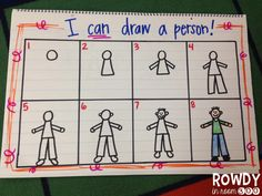 Anchor chart - love that it's not a stick person!