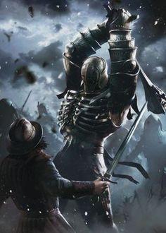 Fantasy Warrior, Fantasy Battle, Medieval Fantasy, Dark Fantasy, Fantasy Adventurer, The Witcher Wild Hunt, Game Character Design, Character Art, Witcher Monsters