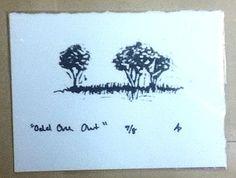 Odd One Out 3 Tree Framed Illustration