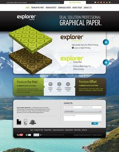 Ideas & Inspirations für Web Designs Explorer Graphic website by hugraphic , via Behance Schweizer Webdesign http://www.swisswebwork.ch