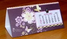 Trifold calendar. 6 1/4 in x 9 1/2 in. Score every 3 inches on short side.