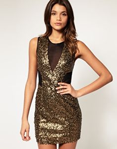 Discover party dresses with ASOS. From sequin dresses, maxi & short styles, ASOS have going out dresses to suit every style and occasion. Sequin Mesh Dress, Glitter Dress, Cutout Dress, Latest Outfits, Fashion Outfits, Cocktail Outfit, Cocktail Dresses, New Years Dress, Event Dresses