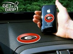 Fan Mats 11226 University of Georgia Get a Grip by Fanmats. $13.00. Never wonder where your phone or device is again! This new product utilizes two polymer grips that adhere to each other leaving your hands free. The Get a Grip is great because it is UAV Resistant, leaves no residue behind, and you can always support your favorite team!. Save 28%!